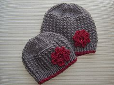 Knit-Rice Stitch Hat for a Baby and Toddler $2.99