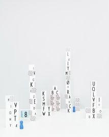 Design Letters  Houten Blokken Alfabet - Wit bij www.grasonderjevoeten.nl