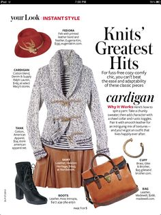 InStyle magazine cutout November 2012 Stripes with leather