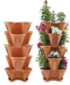5 Tier Stackable Strawberry, Herb, Flower, and Vegetable Planter