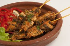 skewers chicken braised with saffron cinnamon lavender almonds saffron ...