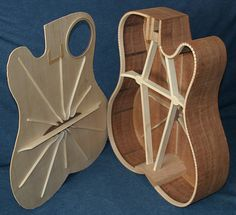 Innovative guitar by luthier Dennis Leahy.