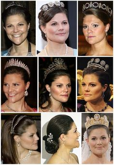 All tiaras CP Victoria of Sweden has worn.