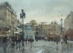 Paint on site in Moscow Red Square by Chien Chung Wei Watercolor Sketch, Watercolor Artists, Watercolor Illustration, Watercolor Paintings, Watercolours, Watercolor Architecture, Watercolor Landscape, Art And Architecture, Gouache Painting