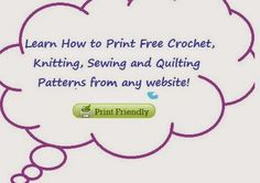 Learn How to Print Free Patterns from Any Web Site