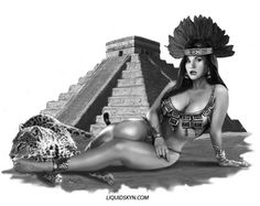 nude Aztec mexican woman