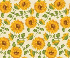 Vintage Sunflower Wallpaper