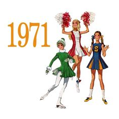 This was the pattern we used to make my Jr High cheerleading uniform. I still have the pattern!