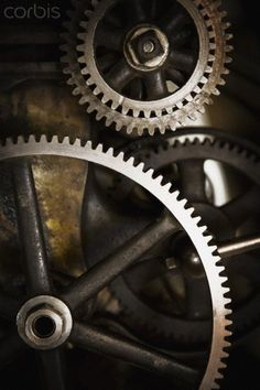 Gears interlocking stock image on Corbis