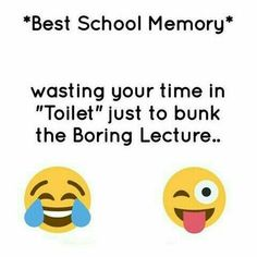 I even had to each my lunch in the toilet so many times bc when it was lunch time I was busy playing soccer lol Latest Funny Jokes, Some Funny Jokes, Really Funny Memes, Funny Facts, Funny True Quotes, Bff Quotes, Jokes Quotes, Qoutes, Funny School Memes
