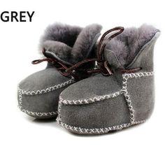 Sheepskin genuine leather winter baby shoes