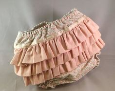 Diaper cover ruffles baby shower gift baby by StarlightSewingShop