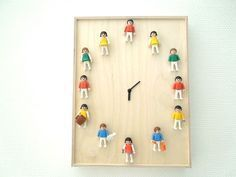 The 42 Definitively Cutest DIY Projects Of All Time (starting with this playmobil person clock) There's a reason why kawaii rhymes with DIY. Diy Gifts To Make, Diy Gifts For Kids, Diy For Kids, Crafts For Kids, Diy Crafts, Do It Yourself Baby, Deco Kids, Cute Diy Projects, Ideias Diy