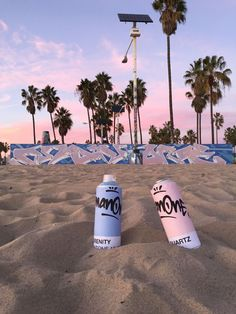 Pantone has also commissioned three street artists in Los Angeles, Miami and New York City to create murals overnight in homage to the twin colors of the moment. In this photo by artist Man One at Venice Beach, California, even the dusk sky seems to be wearing Pantone's colors.