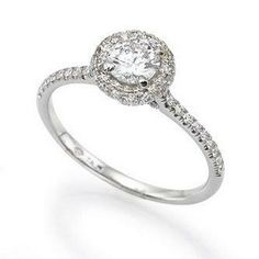 Round Engagement Rings Thin Band With Diamonds 4