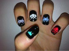 Hipster vs. Geek #nail #nails #nailart