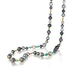 Byzantine Bead Pearl Necklace