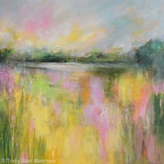 Abstract Landscape 29 - Large Contemporary Landscape Painting - Acrylic on Canvas (Deep Edge)