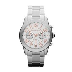Women's Wrist Watches - Michael Kors Mercer Silve Tone Womens Watch *** For more information, visit image link. (This is an Amazon affiliate link)