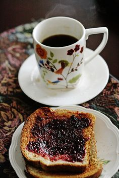 my daughter surprised me with tea and toast on mother's day by wmpe2000, via Flickr