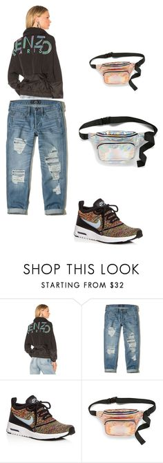 """90s inspired pt 3"" by dafunkyfashionista on Polyvore featuring Kenzo, Hollister Co., NIKE and Simons"