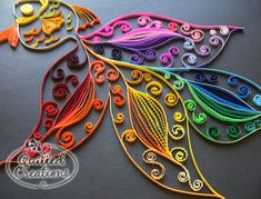 Beautiful quilled fish - check out the crimped paper!