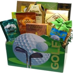 Golfers Delights Gourmet Snacking Box - http://mygourmetgifts.com/golfers-delights-gourmet-snacking-box/