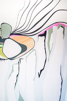 Graphic Line   Wall Mural Interior Design @ Body Engineering Abstract Artwork, Abstract, Artwork, Design