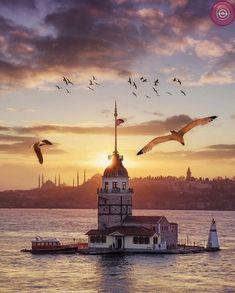 Lighthouse in Istanbul, Turkey 🇹🇷 - Visit Istanbul, Istanbul City, Istanbul Travel, Wonderful Places, Beautiful Places, Places To Travel, Places To Visit, Turkey Travel, Antalya