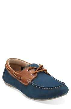 Marcos Sail Blue Nubuck - Men's Oxfords and Lace Up Shoes - Clarks. Men's  Clarks 'Marcos Sail' Leather Loafer