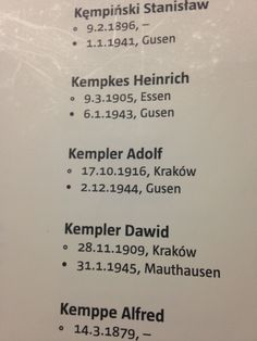 Ever since Joseph Kempler told me about Mauthausen concentration camp, I've wanted to visit this horrible place. Here, in the Room of Names I found two of Joseph's relatives from Krakow, Poland who were killed in the camp and its satellite camp, Gusen. Adolf Kempler and Dawid Kempler. For more read The Altered I Memoir of Holocaust Survivor Joseph Kempler.