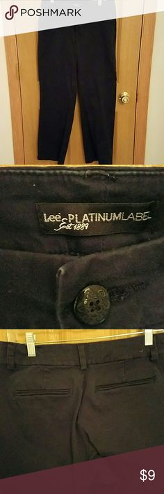 Lee Platinum Label Navy trousers 10 S Curvy Fit navy trousers. Worn a few times. In great condition. Very comfortable. 30 in inseam Lee Pants Trousers
