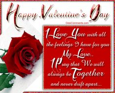 Happy Valentine's Day My Love