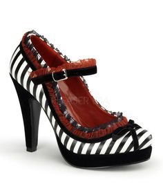 Pinup Couture Bettie Stripe Platforms