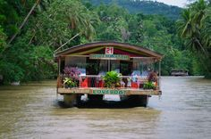 Loboc River and floating restaurant. Bohol