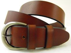 35mm Genuine leather belt Bridle rich brown made in USA Full Grain. $39,95, via Etsy.
