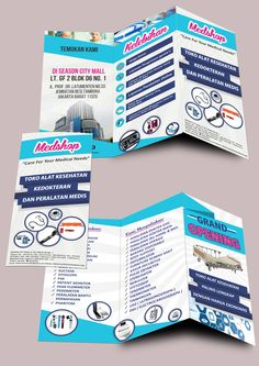 Trifold for medical equipment