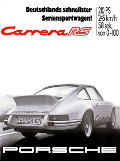 Carrera RS Advert . How I wish I could of bought 10 at 73 prices .