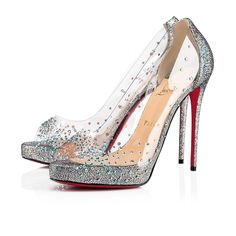 537dbcc9b8e5 Christian Louboutin United States Official Online Boutique - Very Strass  Pvc 120 Version Silver PVC