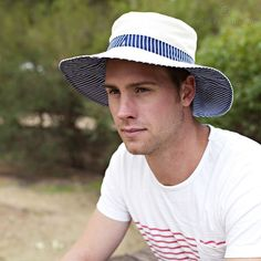 Man Sun Hat Pattern. PDF Sewing Pattern Mens Reversible Brimmed Sunhat | Angel Lea Designs | madeit.com.au