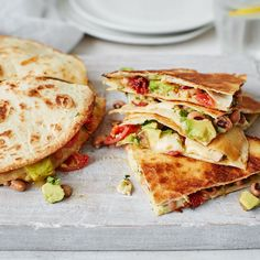 Crammed full of gorgeously gooey cheese, creamy avocado and succulent sundried tomatoes, these quesadillas will bring a little Mexican sunshine to your plate! Give this easy vegetarian recipe a try for a simple midweek meal – just serve with a dollop of soured cream or salsa if you fancy. | Tesco