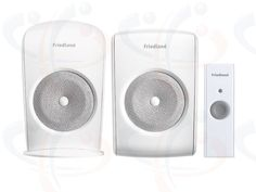 Friedland Evo+ 150m Wirefree Home and Garden Portable and Plug-in Chime Kit with Bell Push (D3100)  New Friedland EVO+ wirefree Home and Garden Door Chime Kit. Includes: portable and plug-in white Door Bell Chimes each with 4 CD quality chime sounds and a 4 step volume control together with a slimline white Bell Push. Up to 150 metre operating range between the Chime Units and the Bellpush. 2 YEAR WARRANTY.