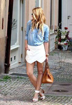 mariachicisimo | Zara white wrap shorts S2013 | Chicisimo