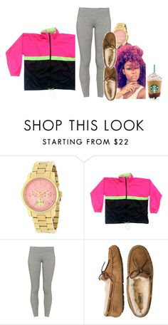 """""""chill day but aye im still at school"""" by princess-sinia ❤ liked on Polyvore featuring Michael Kors, TNA and UGG Australia"""