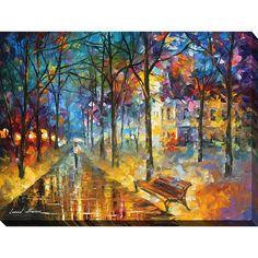 FramedArt.com Leonid Afremov 'Colors Of My Past' Giclee Print Wall Art