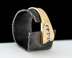 Facets of Love by Dagmara Costello: Gold and Silver Ring available at www.artfulhome.com