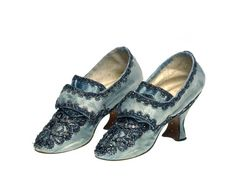Pair of silk shoes: 18th century -- High quality art prints, framed prints, canvases -- Museum of London Prints