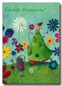 Pinzellades al món: Flors en primavera: alegria al camp Marie Cardouat, Love Hug, Day For Night, Cartoon Wallpaper, Children's Book Illustration, Whimsical Art, Girl Cartoon, Pretty Pictures, Good Morning