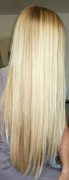 Long blonde hair. Ugh I wish my hair would grow faster!