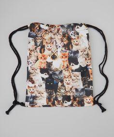 Black Cat Backpack | Black Cats Drawstring Backpack